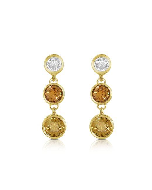 AZ Collection | Metallic Three-tone Drop Earrings | Lyst