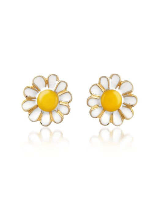 AZ Collection | Metallic Garden Line - Daisy Enamel Earrings | Lyst