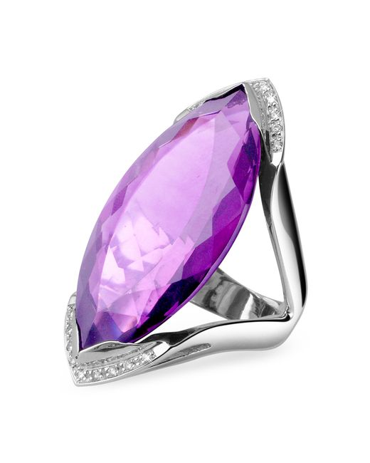 forzieri amethyst and white gold fashion ring in
