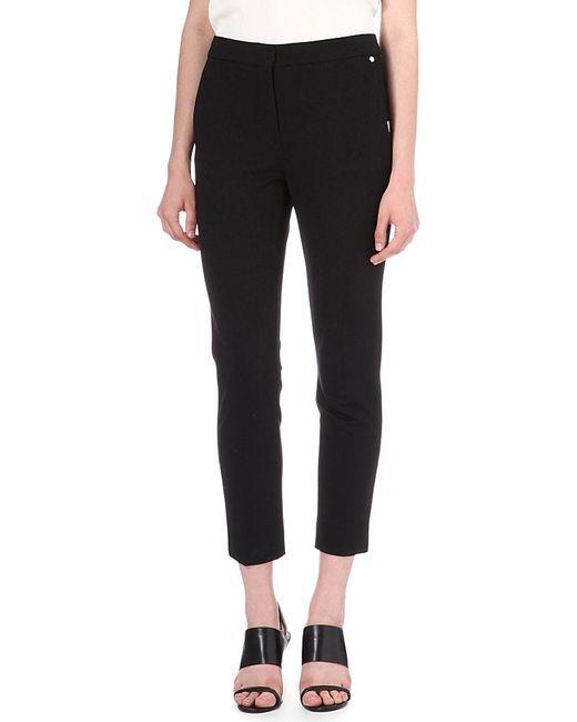 Max Mara | Black Pegno Slim-leg Cropped Trousers | Lyst