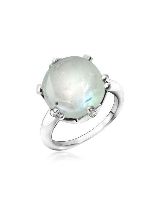 Mia & Beverly - Metallic Spectrolite And Diamond 18k Gold Ring - Lyst