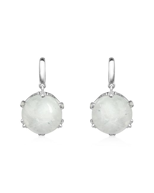 Mia & Beverly | Metallic Spectrolite And Diamond 18k Gold Earrings | Lyst