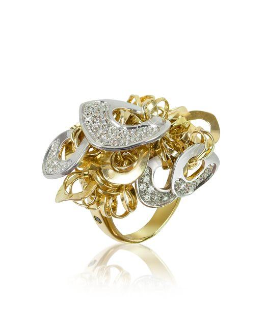 Orlando Orlandini | Metallic Fashion - Diamond 18k Gold Charm Ring | Lyst