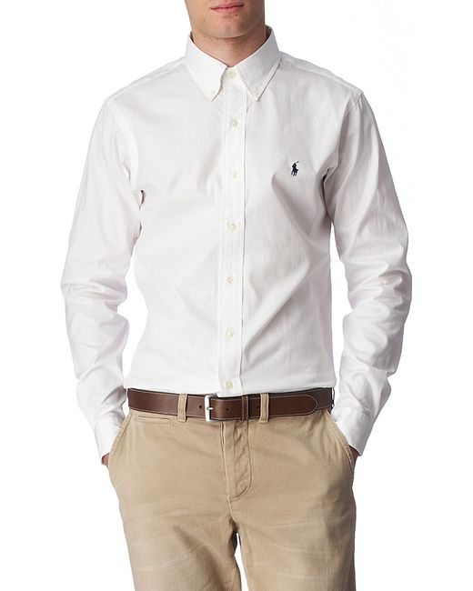 Polo Ralph Lauren | White Oxford Custom-fit Single Cuff Shirt for Men | Lyst