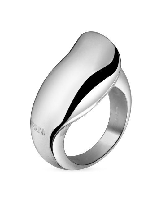 Torrini | Metallic Curved Sterling Silver Ring | Lyst