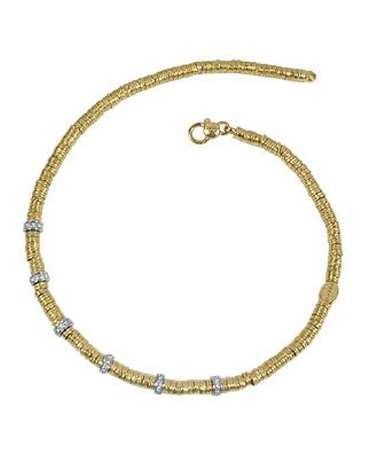 Torrini | Rondelle Moving Big - 18k Yellow Gold And Diamond Necklace | Lyst