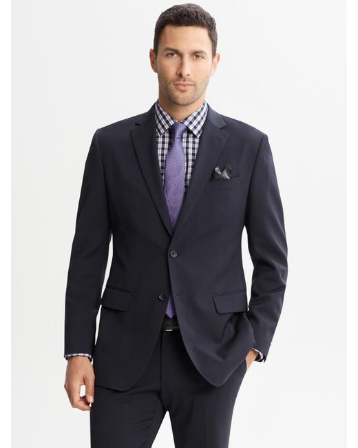 Banana Republic Tailored Fit Navy Italian Wool Suit Jacket
