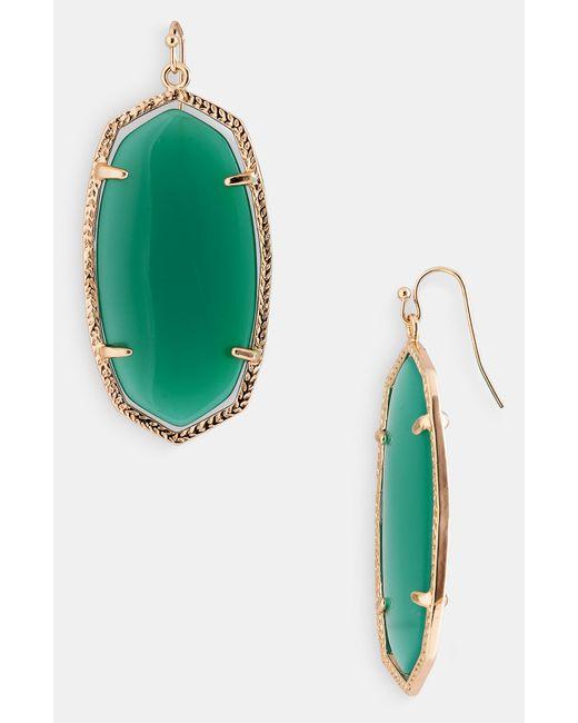Kendra Scott | Green Danielle Earrings | Lyst
