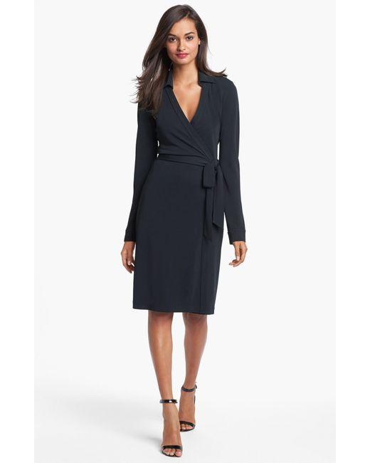Diane von Furstenberg | Black 'new Jeanne Two' Jersey Wrap Dress | Lyst