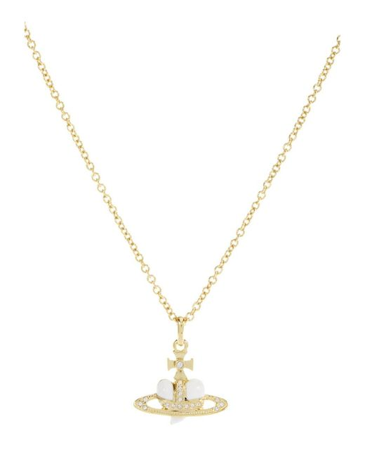Vivienne Westwood | Metallic Mini Bas Relief Diamante Orb Necklace | Lyst