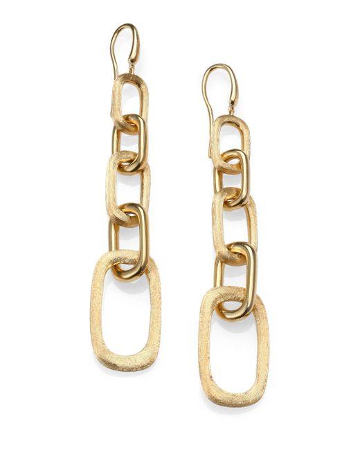 Marco Bicego   Metallic Murano 18k Yellow Gold Graduated Link Drop Earrings   Lyst