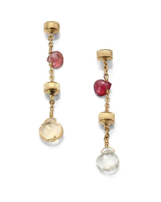 Marco Bicego | Metallic Paradise Semi-precious Multi-stone & 18k Yellow Gold Drop Earrings | Lyst