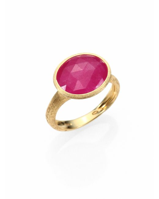 Marco Bicego | Siviglia Pink Sapphire & 18k Yellow Gold Cocktail Ring | Lyst