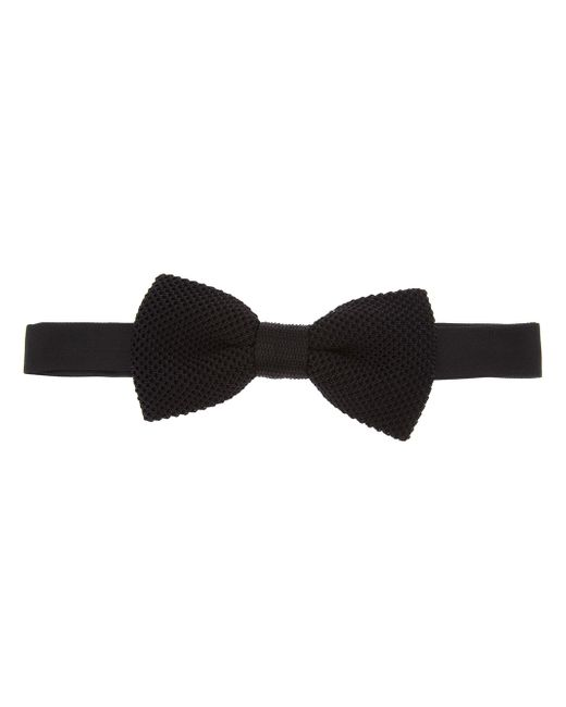 Saint Laurent | Black Knitted Silk Bow Tie for Men | Lyst