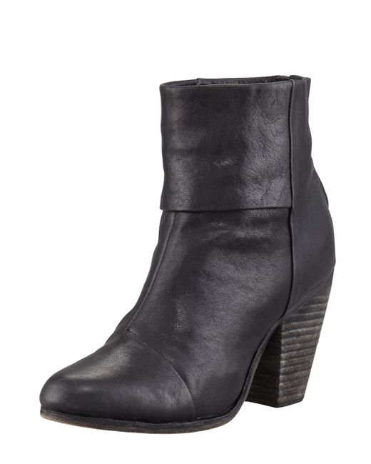 Rag & Bone | Black Classic Newbury Leather Ankle Boots | Lyst