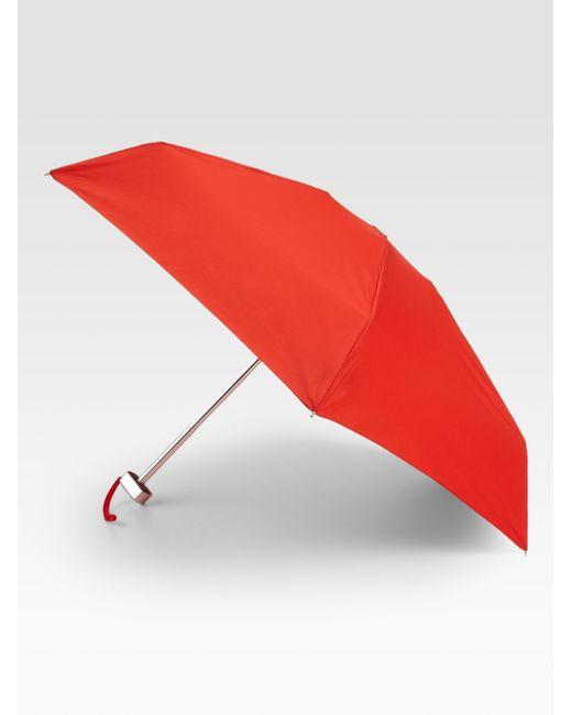 Saks Fifth Avenue | Red Ultimate Mini Umbrella | Lyst