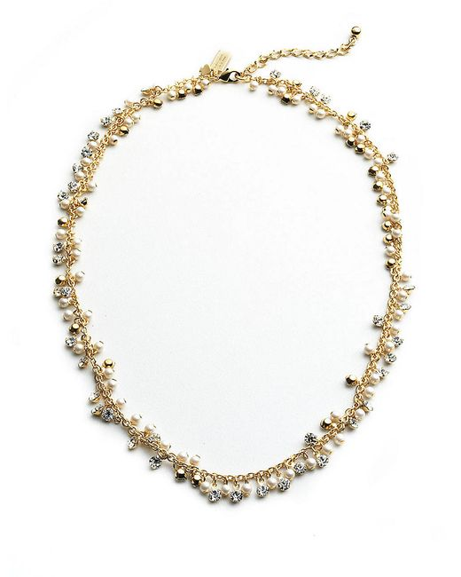 Kate Spade | Metallic 12k Gold-plated Crystal Necklace | Lyst