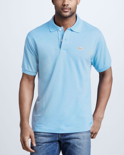 lacoste classic pique polo in blue for men save 51 lyst. Black Bedroom Furniture Sets. Home Design Ideas