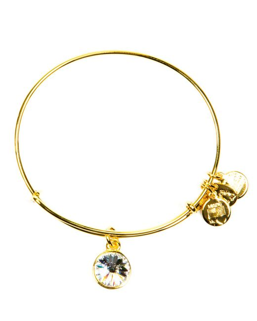 ALEX AND ANI | Yellow April Crystal Birthstone Bangle | Lyst