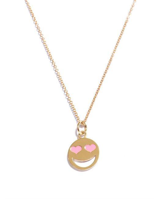 Alison Lou   Metallic Enamel & Yellow-gold Lovestruck Necklace   Lyst