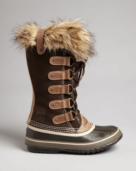 Sorel | Brown Joan Of Arctic Tall Boots With Faux Fur | Lyst