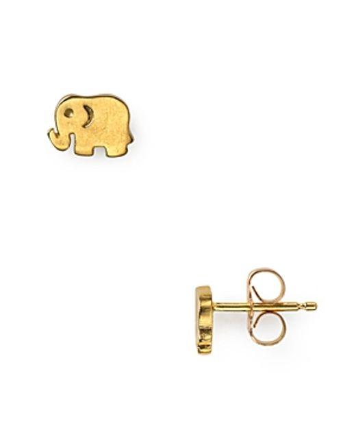 Dogeared | Metallic Little Elephant Earrings | Lyst