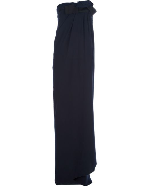 Lanvin | Blue Draped Floor Length Skirt | Lyst