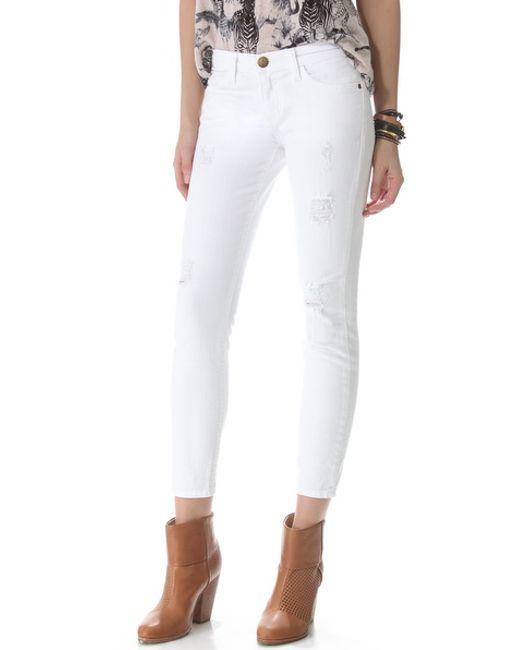 Current/Elliott | White The Stiletto Jeans | Lyst