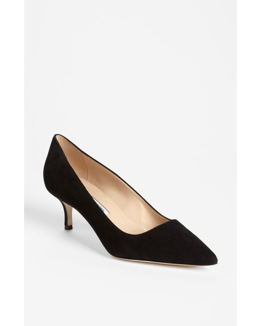 Manolo Blahnik | Black 'bb' Pump | Lyst
