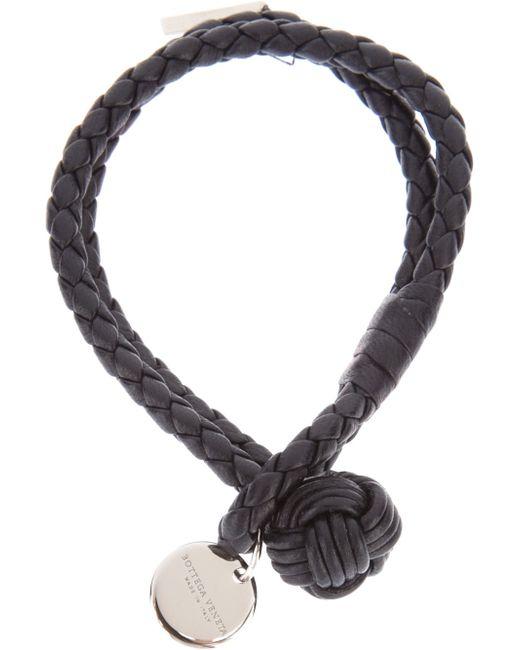 Bottega Veneta | Black Intrecciato Leather Double | Lyst