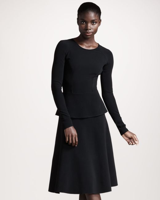 Roland Mouret   Black Barnicles Stretch Crepe Dress   Lyst