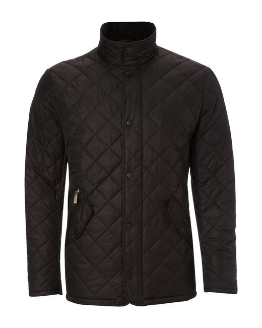 Barbour | Black Chelsea Sports Quilted Jacket In Navy for Men | Lyst