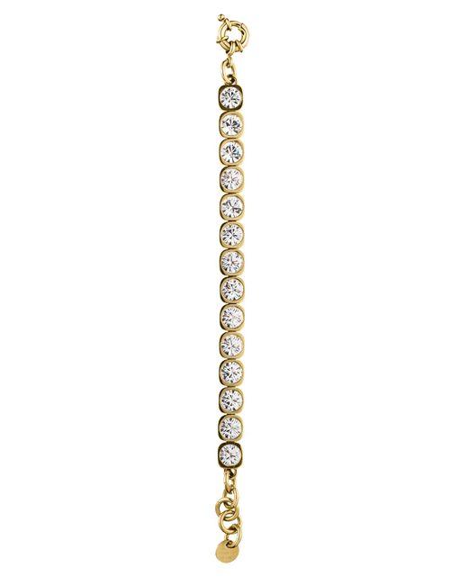 Dyrberg/Kern | Metallic Conian Gold Crystal Bracelet | Lyst