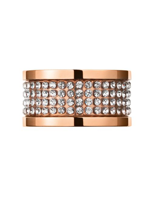 Dyrberg/Kern | Pink Emily Rose Gold Crystal Ring | Lyst