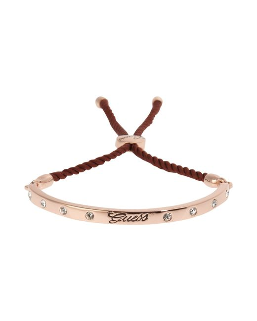 Guess | Brown Demi Bangle With Fig Cord | Lyst