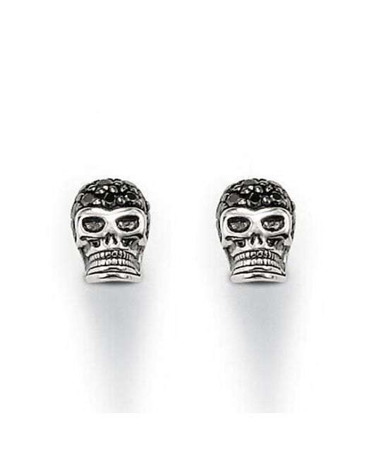 Thomas Sabo | Rebel At Heart Black Skull Ear Studs | Lyst
