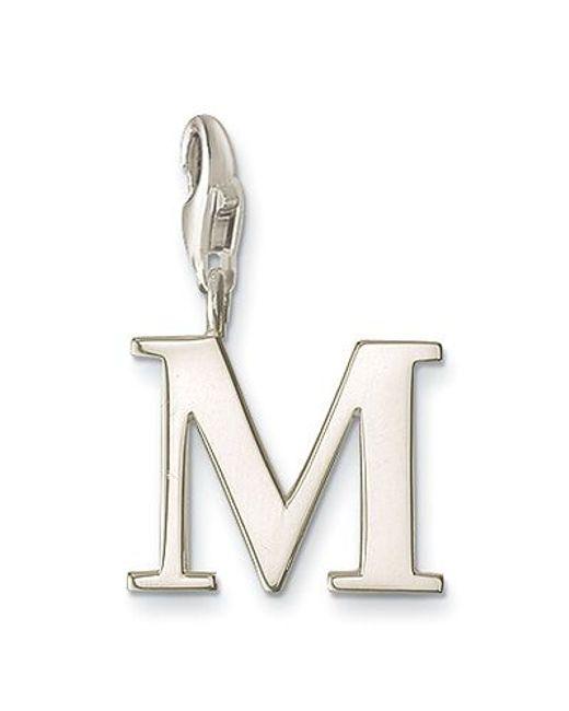 Thomas Sabo | Metallic Charm Club Letter M | Lyst