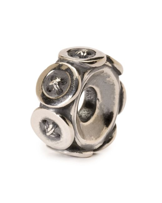 Trollbeads | Metallic Buttons Silver Charm Bead | Lyst