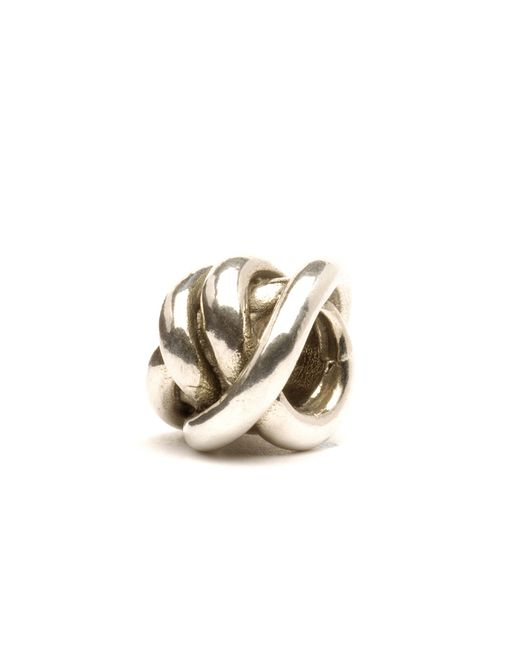 Trollbeads | Metallic Lucky Knot Silver Charm Bead | Lyst