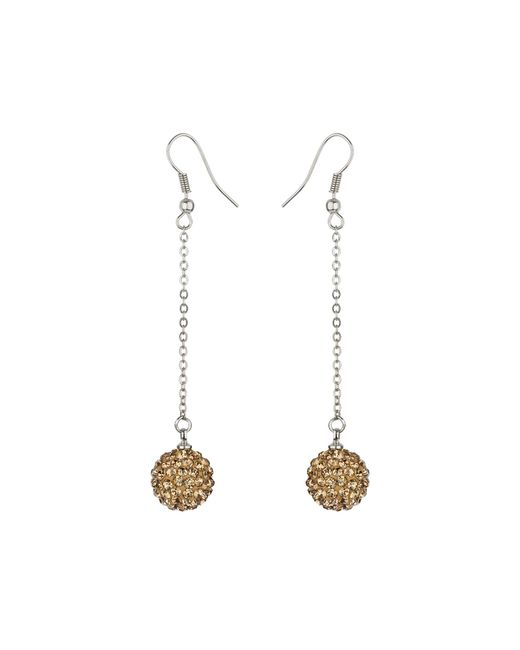 Mikey | Metallic 12mm Crystal Drop Earrings | Lyst