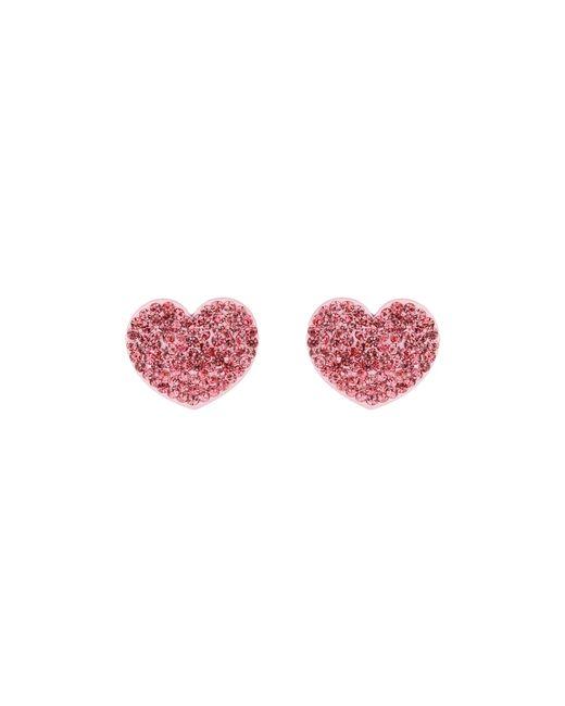 Mikey | Pink Flat Heart Earrings | Lyst