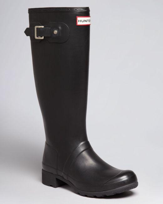 Hunter | Black Original Tour Packable Rain Boots | Lyst