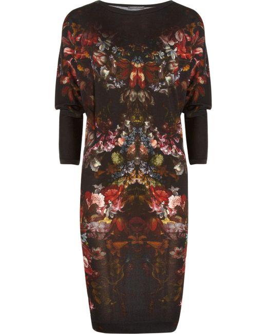 Alexander McQueen | Black Round-neck Lace Mini Dress | Lyst
