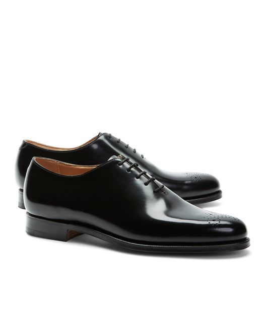 Brooks Brothers | Black Peal & Co.® One-piece Medallion Toes for Men | Lyst