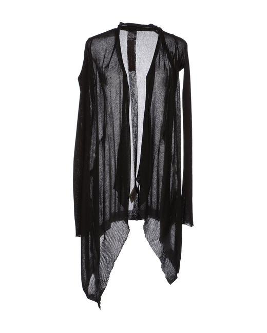 Rick Owens | Black Jersey Wrap Cardigan | Lyst
