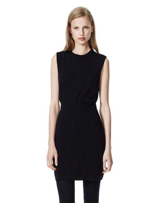 Theory | Black Jurinzi Fringe-trimmed Knitted Dress | Lyst