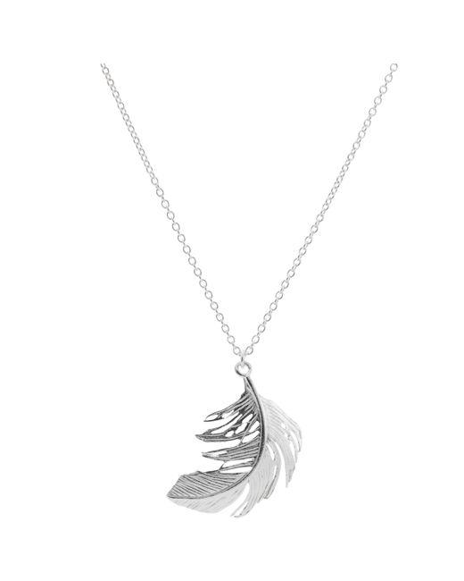 Alex Monroe | Metallic Big Single Feather Necklace | Lyst
