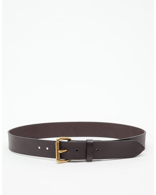 filson bridle leather belt in brown for lyst