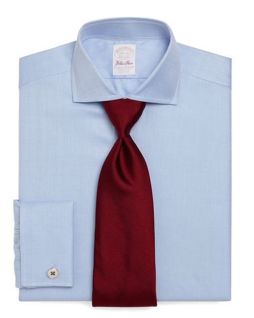 Brooks Brothers | Blue Golden Fleece® Regent Fit Herringbone French Cuff Dress Shirt for Men | Lyst