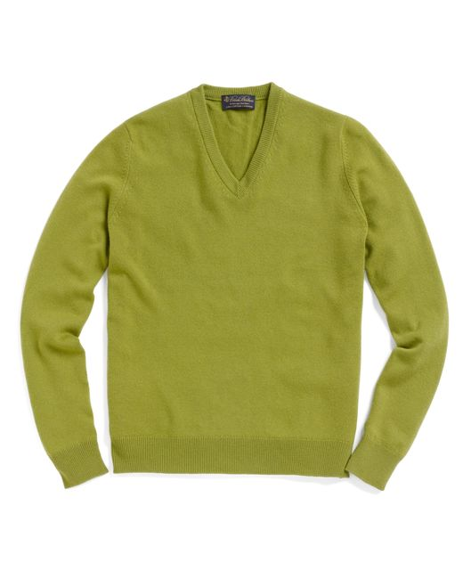 Brooks Brothers | Green Cashmere V-neck Sweater for Men | Lyst